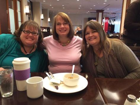 Breakfast with writing pals Lisa Jordan and Edie Melson